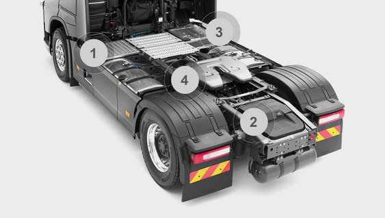 Volvo FH16 - chassis de trator